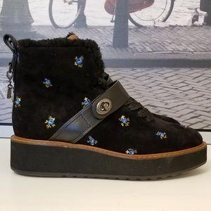 Coach Shoes - COACH Urban Hiker Boots Black Prairie Leather